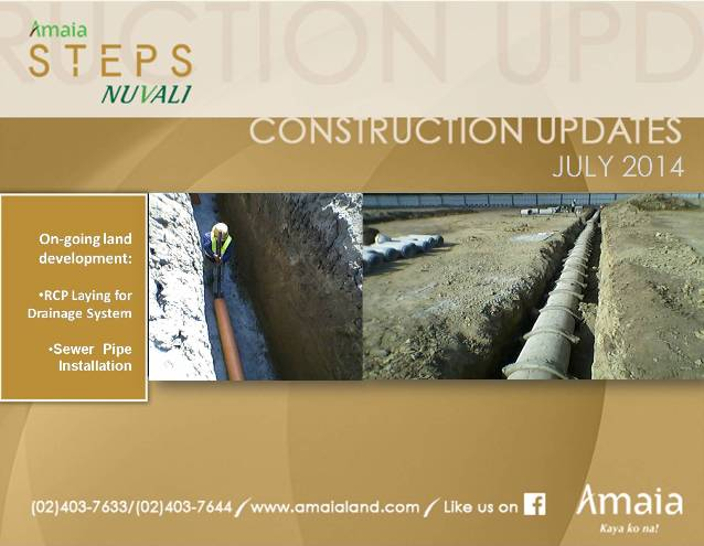 Amaia Steps Nuvali Construction Updates July 2014