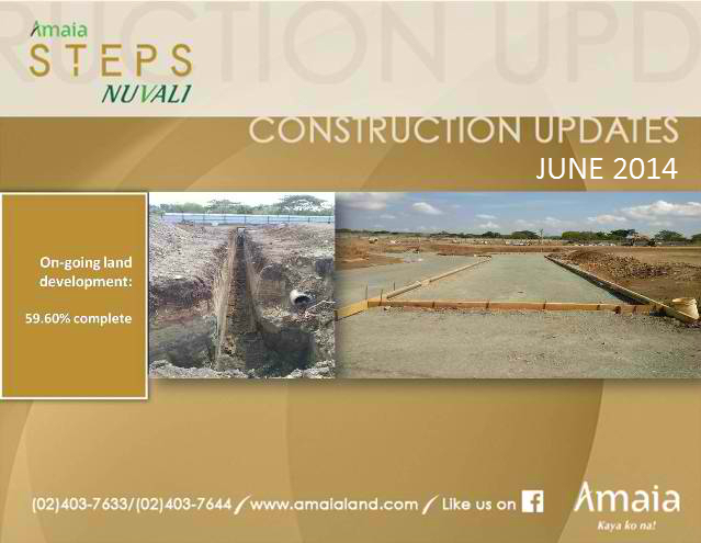 Amaia Steps Nuvali Construction Updates June 2014